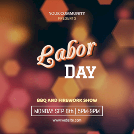 Online Editable Labor Day Animated Design