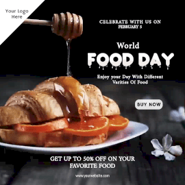 Online Editable World Food Day Animated Design
