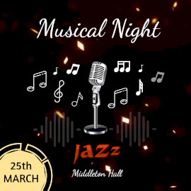 Online Editable Musical Night Jazz Animated Design