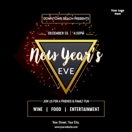 Online Editable Classy New Year Eve Fun Event Animated Design
