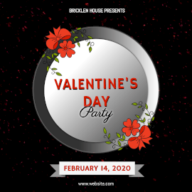 Online Editable Valentine's Day Party Animated Design
