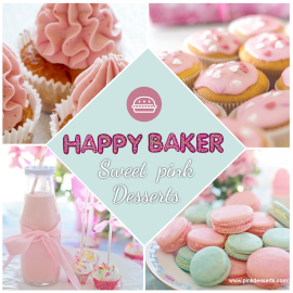 Online Editable Happy Baker for Cookies and Cream Cupcakes 4 Photo Collage
