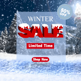 Online Editable Snowing Text Holiday Sale Animated Design