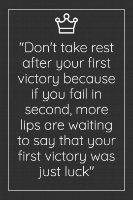 Online Editable Victory Quotes Pinterest Graphic