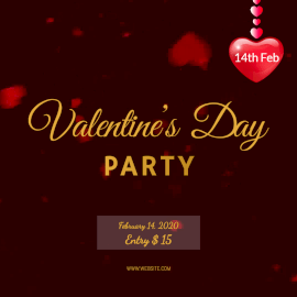 Online Editable Red Valentine's Day Animated Design