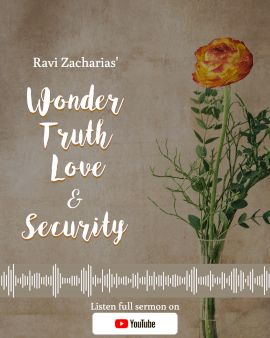 Online Editable Message on Wonder, Truth, Love and Security Sermon Snippet