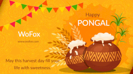 Online Editable Happy Pongal Wishes Slideshow Intro