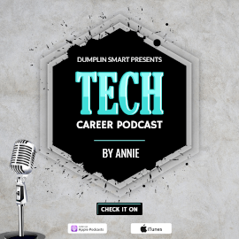 Online Editable Black & Blue Tech Career Podcast GIF