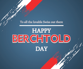Online Editable Berchtold Day Swiss Flag Strokes Facebook Post