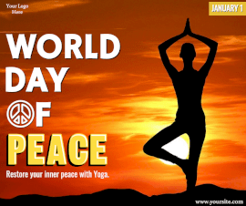 Online Editable World Day of Peace January 1 Facebook Post