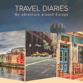 Online Editable My Travel Journal Instagram Post 3 Grid Photo Collage