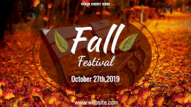 Online Editable Falling Autumn Leaves Fall Festival Animated Design