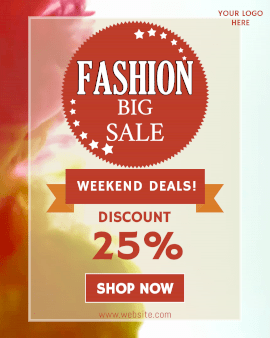 Online Editable Fashion Big Sale Animated Design