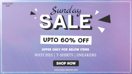 Online Editable Sunday Offer Sale for Fashion Apparel Animated Design