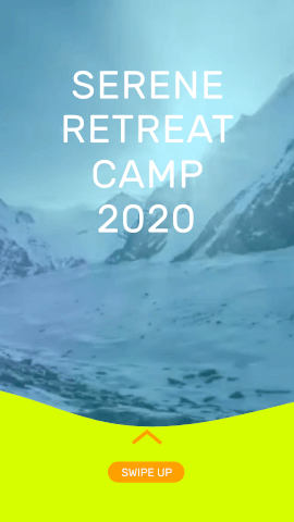 Online Editable Serene Retreat Camp 2020 Instagram Story Video Maker