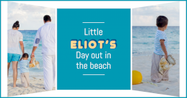 Online Editable Family Beach Holidays 2 Grid Photo Collage