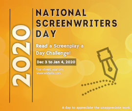 Online Editable National Screenwriters Day January 5 Facebook Post