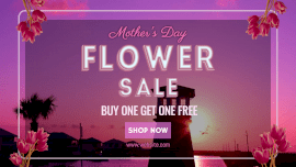Online Editable Flower Sale on Mothers Day Animated Design