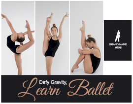 Online Editable Learn Ballet Triple Panel Collage Grid