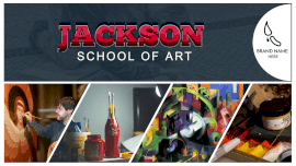 Online Editable Jackson Art Academy 4 Grid Photo Collage