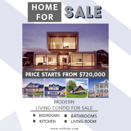 Online Editable Home For Sale 5 Grid Photo Collage