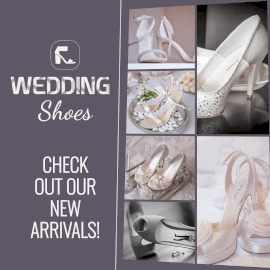 Online Editable Wedding Shoes for Bride 6 Grid Photo Collage