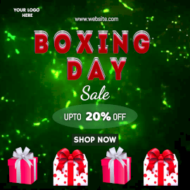 Online Editable Boxing Day Sale Animated Design