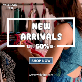 Online Editable New Arrivals Dresses for Women Offer Animated Design