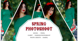 Online Editable Spring Photoshoot 5 Grid Photo Collage