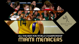 Online Editable Women's Volleyball Championship 3 Grid Photo Collage