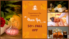Online Editable Peace Massage spa 4 Grid Photo Collage