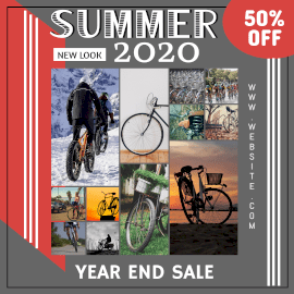 Online Editable Summer 2020 Year End Sale 12 Grid Photo Collage