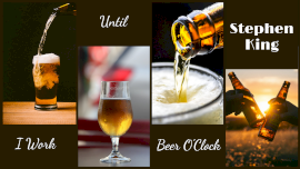 Online Editable Beer Pouring into Glass 4 Grid Photo Collage