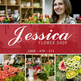 Online Editable Jessica Flower Shop 4 Grid Photo Collage