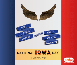 Online Editable National IOWA Day February 8 Facebook Post
