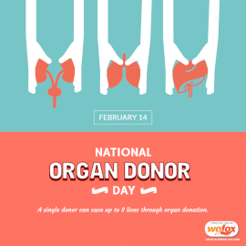 Online Editable National Organ Donor Day February 14 Social Media Post