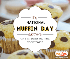 Online Editable National Muffin Day February 20 Facebook Post