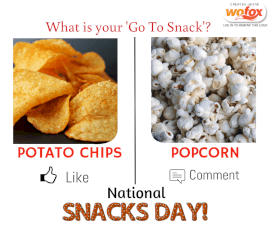 Online Editable National Snack Day Facebook Post