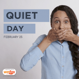 Online Editable Quiet Day February 25 Social Media Post