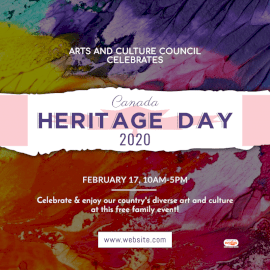 Online Editable Heritage Day in Canada February 17 Social Media Post