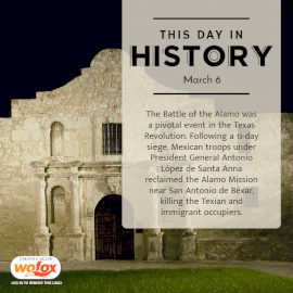 Online Editable Alamo Day in Texas March 6 Social Media Post