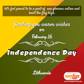 Online Editable Celebrate Lithuania Independence Day February 16 Social Media Post