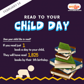 Online Editable Read To Your Child Day Facts February 14 Social Media Post
