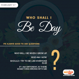 Online Editable Who Shall I Be Day Questions February 17 Social Media Post