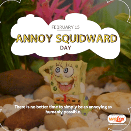 Online Editable Annoy Squidward Day February 15 Social Media Post