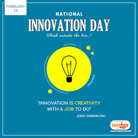 Online Editable National Innovation Day Quote February 16 Social Media Post