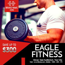 Online Editable Eagle Fitness Instagram Post