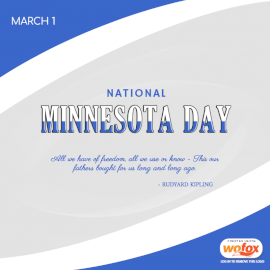 Online Editable National Minnesota Day March 1 Social Media Post