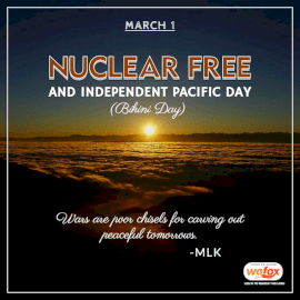 Online Editable Nuclear Free And Independent Pacific Day (Bikini Day) March 1 Social Media Post