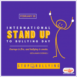 Online Editable International Stand Up To Bullying Day February 28 Social Media Post